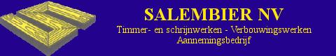 Banner Salembier NV - Timmer- en schrijnwerken - Verbouwingswerken - Aannemingsbedrijf